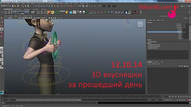 Анимация взаимодействия 3D персонажа в Maya