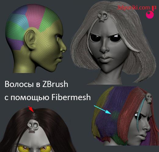 fibermesh: Волосы в Zbrush