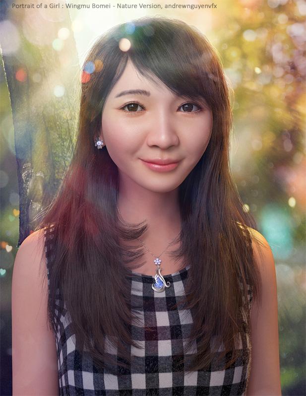 Реалистичный 3D портрет вьетнамской девушки