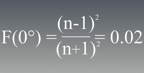 Отражаемость поверхности определяется коэффициентом преломления
