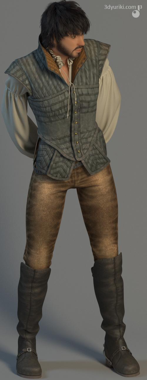 Пример качества текстур одежды для 3D мультика