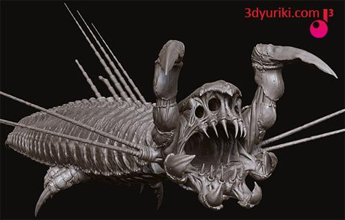3D модель песчаного червя