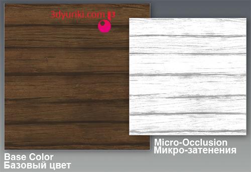 микро-затенения и базовый цвет