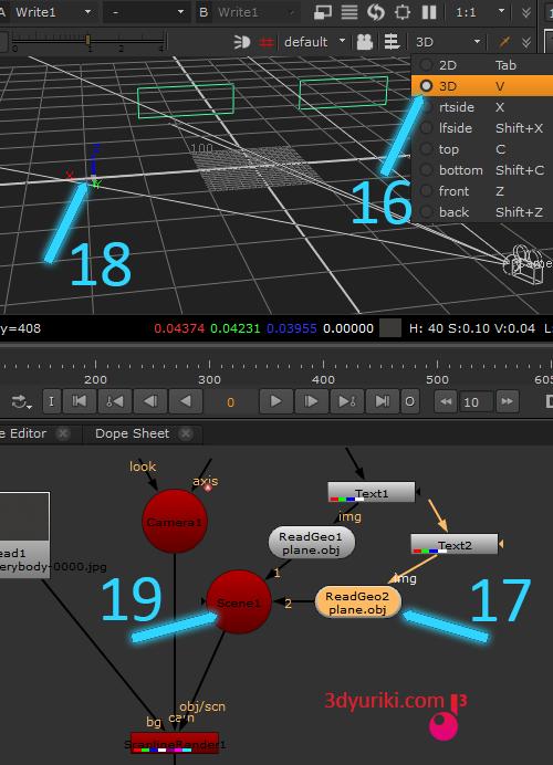 Работа в 3D режиме в Nuke
