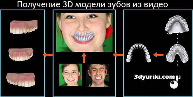 получение 3d модели зубов из видео
