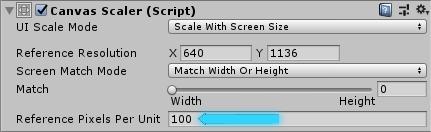 базовое значение плотности пикселей в unity