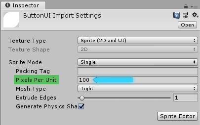 плотност пикселей для спрайтов в unity