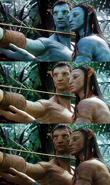 Аватар Джейка и Найтири с цветом кожи как у людей