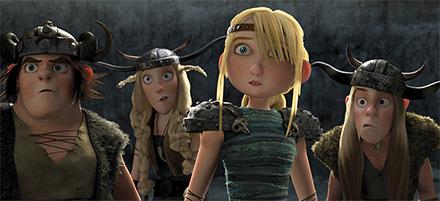 Главная героиня мультфильма Как приручить дракона Астрид на тренировочной арене