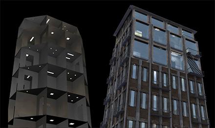 освещение интерьера зданий геометрическими источниками света