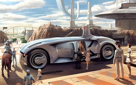 Автомобиль будущего капсула для перевозки пассажиров на большие дистанции