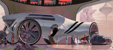 Автомобиль будущего для комфортного путешествия по пустыням