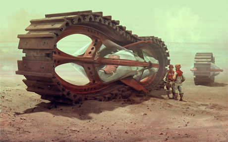 Скоростной трактор-преследователь будущего для любого типа почвы