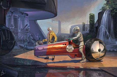 Идеально уравновешенное транспортное средство будущего