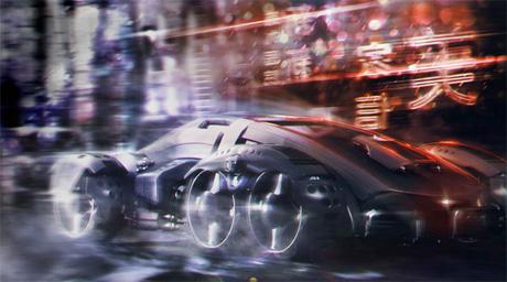 Бегущий в ночи, автомобиль-невидимка будущего