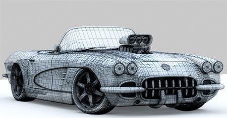 Сетка ретро автомобиля