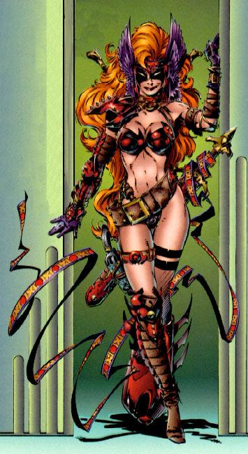 Анжела (персонаж из комикса Spawn) карточка чародея