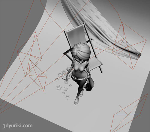 Положение источников света для визуализации 3D-девушек в виртуальной студии