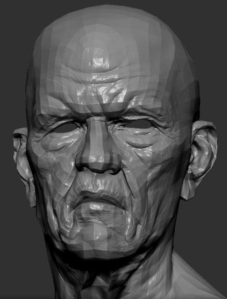 Топология лица старика