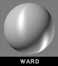 Тип затенения поверхности Уорд (Ward)