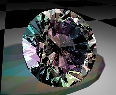 Пример дисперсии на алмазе