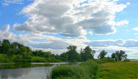 HDR-фотография берега озера