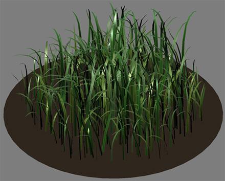 Размещение длинных травинок