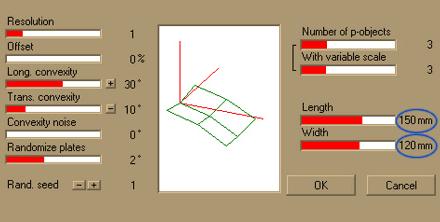 Настройки геометрии листьев в Onyxtree