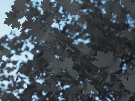Визуализация листьев, сделанных прозрачностью